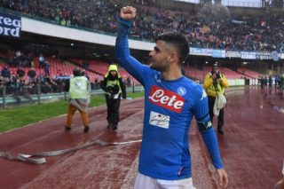 Lorenzo Insigne of SSC Napoli during the Serie A TIM match between SSC Napoli and Spal at Stadio San Paolo Naples Italy on 18 February 2018. (Photo Franco Romano/Nurphoto)