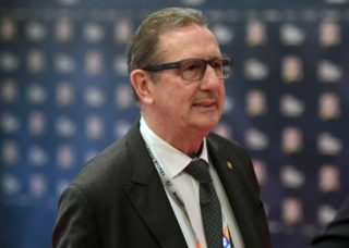 3280476 01/24/2018 Head Coach of Hungary's national football team Georges Leekens before the UEFA Nations League draw in Lausanne, Switzerland. Grigory Sysoev/Sputnik