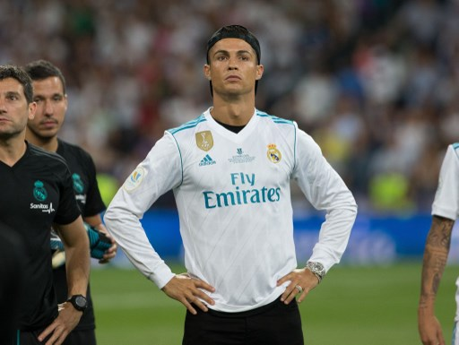 Real Madrid´s Portuguese forward Cristiano Ronaldo during the second leg of the Spanish Super Cup between Real Madrid and FC Barcelona played at Santiago Bernabeu Stadium in Madrid, Spain, on August 16th 2017, Photo Rudy / SpainDPPI / DPPI