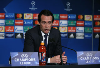 PARIS, FRANCE - NOVEMBER 22: Coach of PSG Unai Emery answers to the media following the UEFA Champions League group B match between Paris Saint-Germain (PSG) and Celtic FC at Parc des Princes on November 22, 2017 in Paris, France. (Photo by Jean Catuffe/Getty Images)