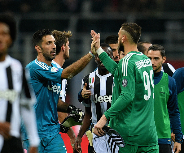 during the Serie A match between AC Milan and Juventus at Stadio Giuseppe Meazza on October 28, 2017 in Milan, Italy.