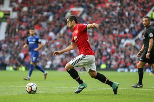 Manchester United Midfielder Henrikh Mkhitaryan during the English championship Premier League football match between Manchester United and Everton on September 17, 2017 at Old Trafford in Manchester, England - Photo Phil Duncan / ProSportsImages / DPPI