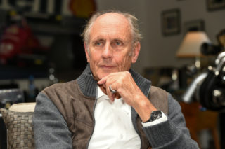 """Hans Joachim Stuck during an interview for the kicker. Wörgl, Austria on 2017/10/05. (Photo credit should read """"Erich Spiess/APA-PictureDesk via AFP"""")"""