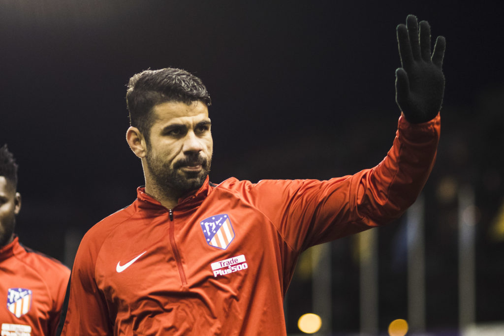 Diego Costa from Spain of Atletico de Madrid during the Copa del Rey Spanish King's Cup match between Lleida v Atletico de Madrid, at Camp d'Esports de Lleida in Lleida on 03 of January, 2018.  (Photo by Xavier Bonilla/NurPhoto)