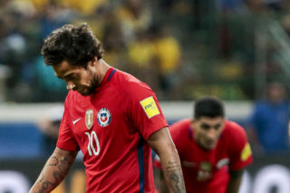 SP - Sao Paulo - 10/10/2017 - Qualifying Russia 2018 - Brazil X Chile - Valdivia of Chile during match against Brazil by the Qualifiers for the 2018 Russia Cup, at the Allianz Arena Park Photo: Ale Cabral / AGIF