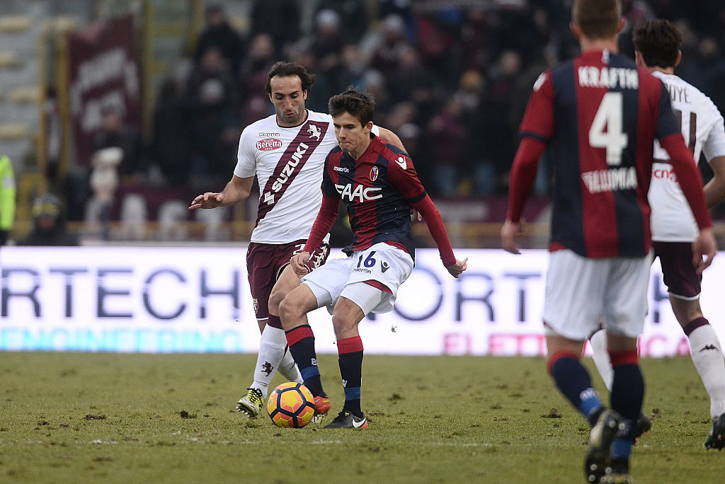 BOLOGNA, ITALY - JANUARY 22: Adam Nagy # 16 of Bologna FC in action during the Serie A match between Bologna FC and FC Torino at Stadio Renato Dall'Ara on January 22, 2017 in Bologna, Italy.  (Photo by Mario Carlini / Iguana Press/Getty Images)