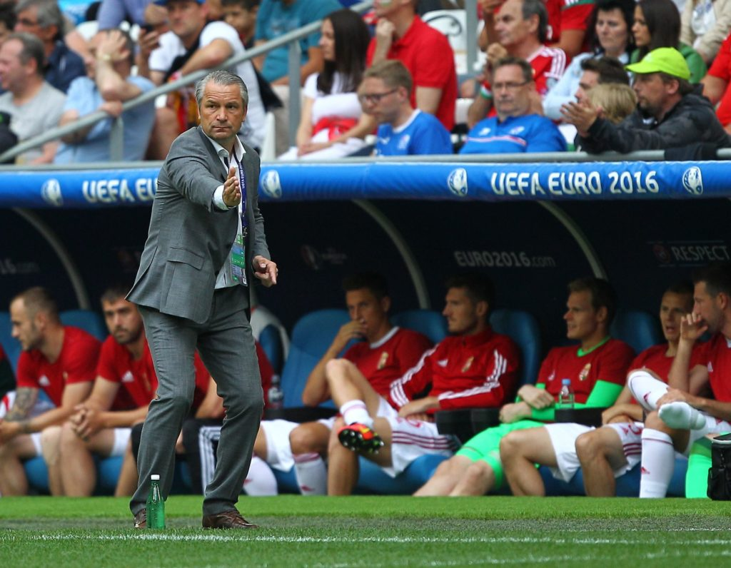 Hungary manager Bernd Storck during the UEFA European Championships 2016 , group F match between Iceland and Hungary played at Stadium Velodrome , Marseille , France on June 18th 2016 - Photo by Michael Zemanek / Backpage Images / DPPI
