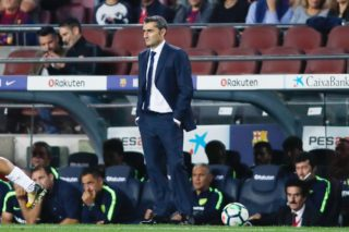 FC Barcelona coach Ernesto Valverde during the Spanish championship Liga football match between FC Barcelona and Malaga CF on October 21, 2017 at Camp Nou stadium in Barcelona, Spain - Photo Andres Garcia / Spain DPPI / DPPI