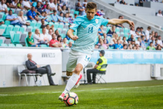 Roman Bezjak of Slovenia in action during football match between National teams of Slovenia and Malta in Round #6 of FIFA World Cup Russia 2018 qualifications in Group F, on June 10, 2017 in SRC Stozice, Ljubljana, Slovenia. Photo by Vid Ponikvar / MB Media