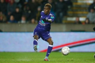 Anderlecht's Henry Onyekuru pictured in action during the Jupiler Pro League match between Excel Mouscron and Sporting Anderlecht, in Mouscron, Saturday 18 November 2017, on day 15 of the Jupiler Pro League, the Belgian soccer championship season 2017-2018. BELGA PHOTO BRUNO FAHY