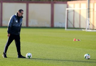 Algeria's Belgian coach George Leekens during a training session on January 4, 2017, at the National Technical Center in Sidi Moussa, during preparations for the upcoming 2017 Africa Cup of Nations in Gabon. (Photo by Billal Bensalem/NurPhoto)