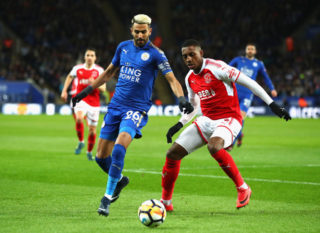 during The Emirates FA Cup Third Round Replay match between Leicester City and Fleetwood Town at The King Power Stadium on January 16, 2018 in Leicester, England.