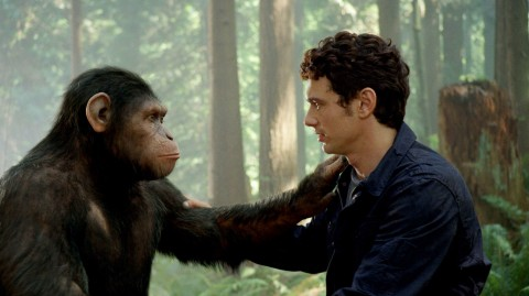 Academy Award-winning visual effects house WETA Digital, has created a CG character – Caesar (shown with James Franco) – of unprecedented emotion and intelligence, for the movie RISE OF THE PLANET OF THE APES. Photo credit: WETA Digital