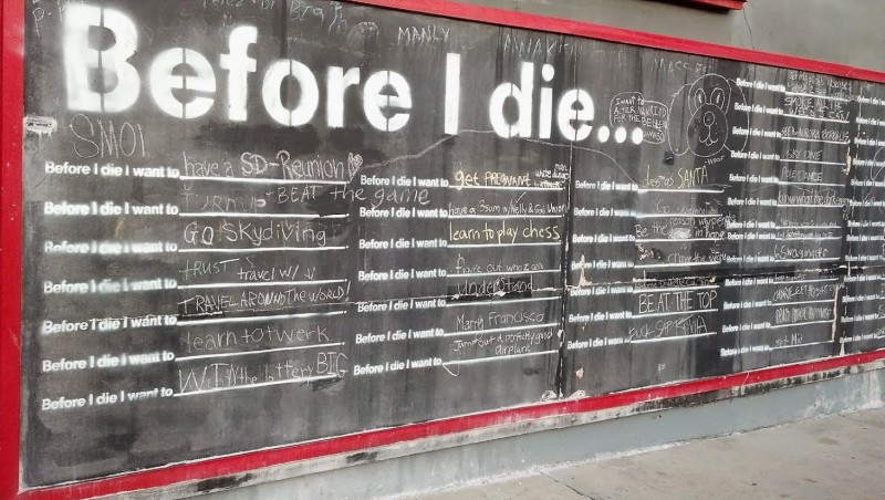 Before I die wall, Sziget, 2012